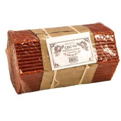 Свечи Красные полувосковые станочные № 60 (2 кг)