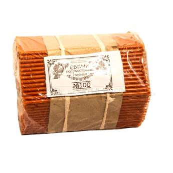 Свечи Красные полувосковые станочные № 100 (2 кг)