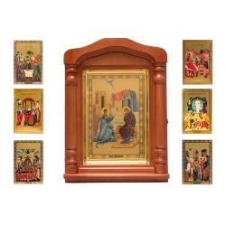 Киот со сменными иконами Двунадесятых праздников (49*35см)