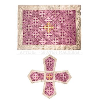 Комплект из покровцов и воздуха (парча с шелковой нитью) (цвета в ассорт.)