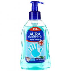Мыло жидкое с антибактериальным эффектом Aura увлажняющее с Алоэ Вера, 300мл (уп.1шт.)