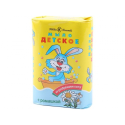Мыло туалетное Детское с чередой и ромашкой 90гр.(уп.72шт.)