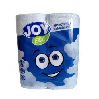 Полотенца бумажные 2-слойные Joy Eco 2 рул./уп. (меш.12уп.)