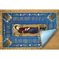 Плащаница Богородицы,бархат с вышивкой 150*100 см,.(уп.1шт.)