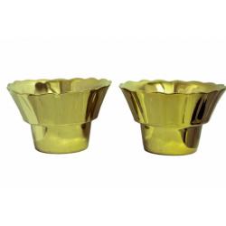 Лампада керам.золотая средняя (уп.10шт.)