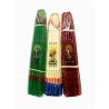 Свечи Иерусалимские бело-голубые/красные/зеленые (33 шт.)