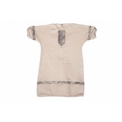 Рубашка крестильная с серебрянной вставкой (р.74,80,100% хлопок)(белый)