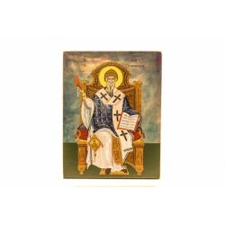 Икона свт. Спиридона,9,6*7,4см,Корфу (уп.1шт.)