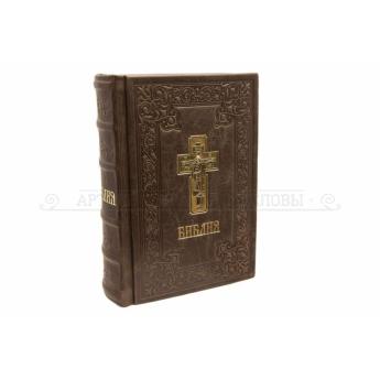 Библия на русском языке, кожаный переплет (уп.1шт.)