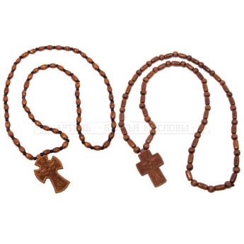"Четки самшит на 50 зерен с крестом ""Иерусалим""(уп.10шт.)"