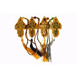 Распятие подвесное металл.Иерусалим со стазами (уп.1шт.)