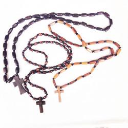 Крест нательный и цепочка из самшита (уп.10шт.)