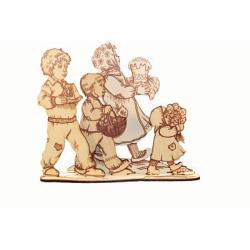 Пасхальная обьемная самоделка-раскраска, дерево (уп.10шт.)