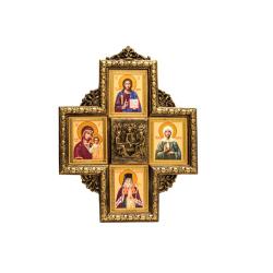 Крест-икона с 4-мя ликами, полистоун