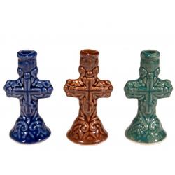 Подсвечник керам.Крест (новый),(уп.30шт.)