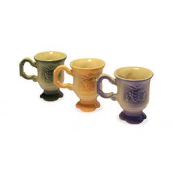 Кружка для Св.воды керам. Цветная (зеленый,синий,оранжевый) (уп.2шт.)