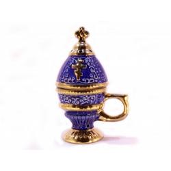 Кадильница керам. Яйцо с золотом ассорт. (уп.2шт.)