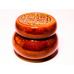 Просфорница керам. коричневая